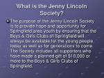 what is the jenny lincoln society