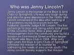 who was jenny lincoln