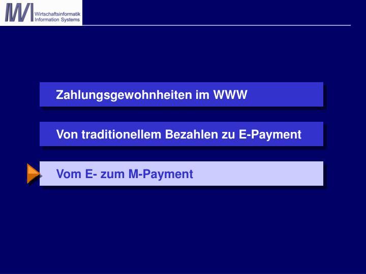 Vom E- zum M-Payment