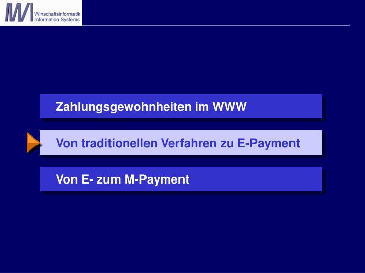 Von traditionellen Verfahren zu E-Payment