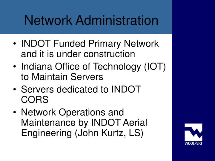 INDOT Funded Primary Network and it is under construction