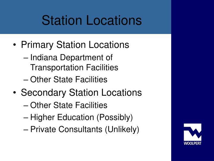 Primary Station Locations