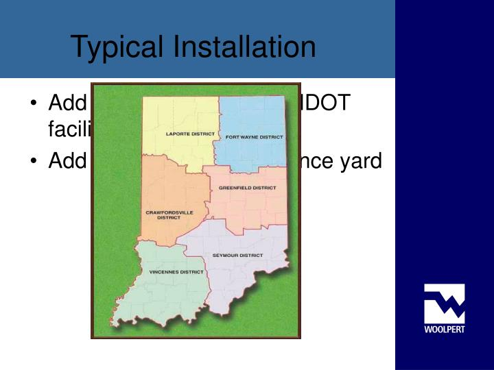 Add state map showing INDOT facilities