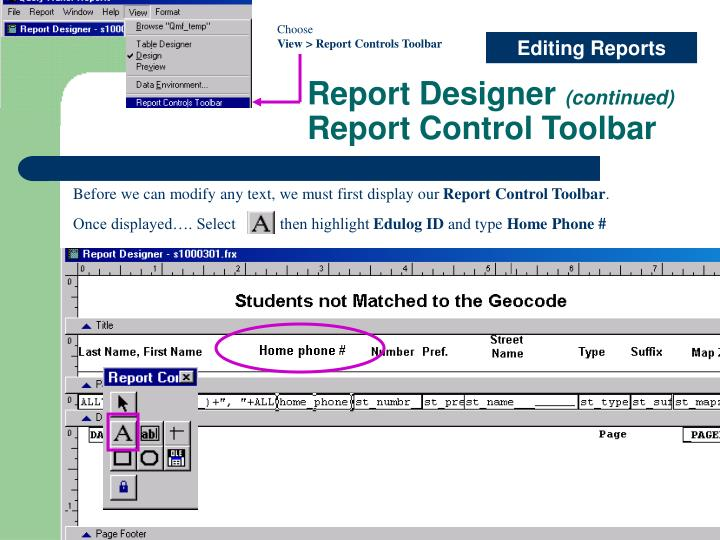Once displayed…. Select           then highlight