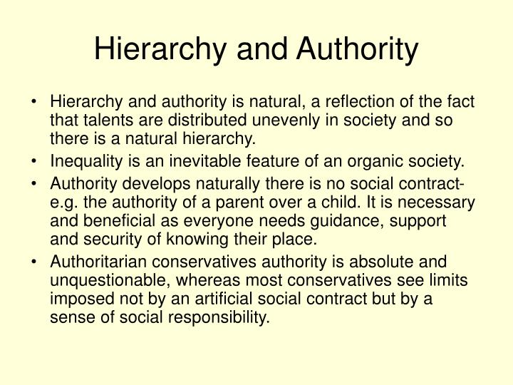 Hierarchy and Authority