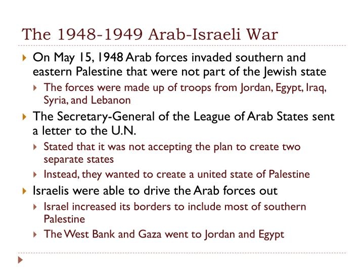 The 1948-1949 Arab-Israeli War