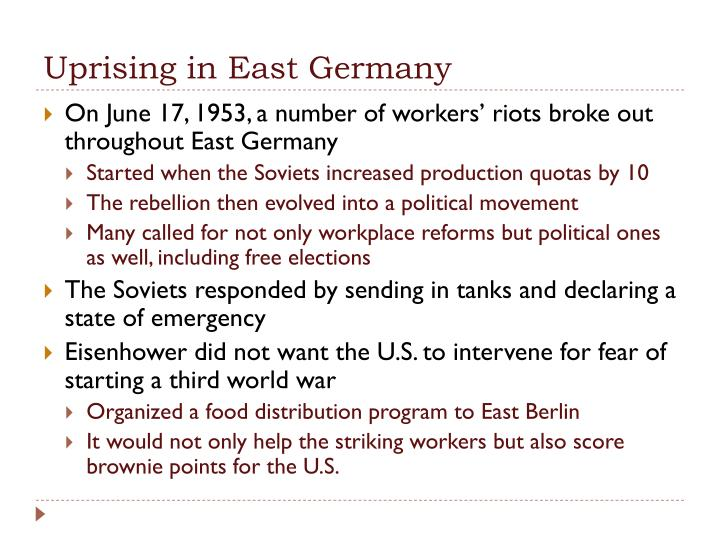 Uprising in East Germany