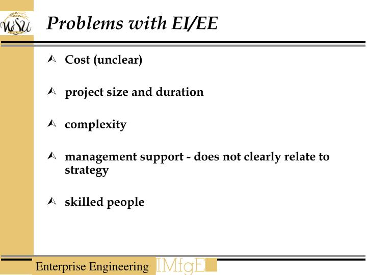Problems with EI/EE