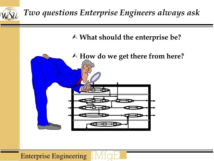 Two questions Enterprise Engineers always ask