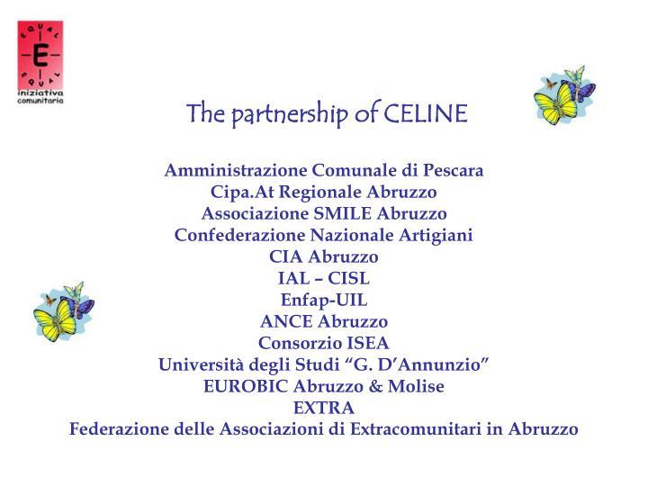 Il partenariato di CELINE: