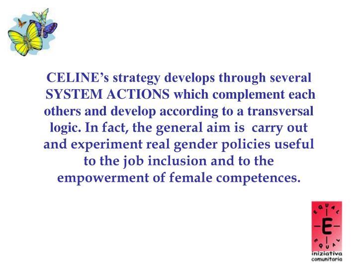 CELINE's strategy develops through several