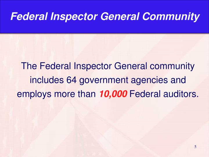 Federal Inspector General Community