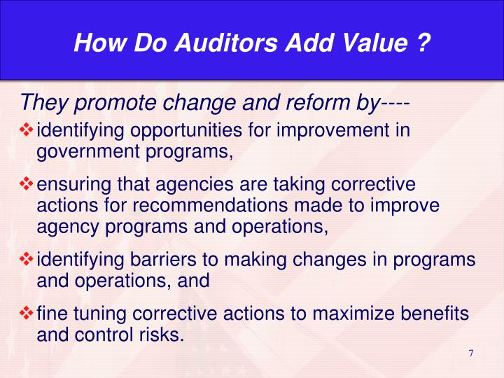 How Do Auditors Add Value ?