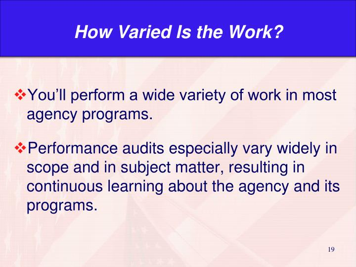 How Varied Is the Work?