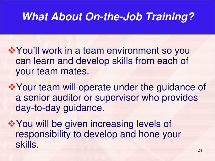 What About On-the-Job Training?