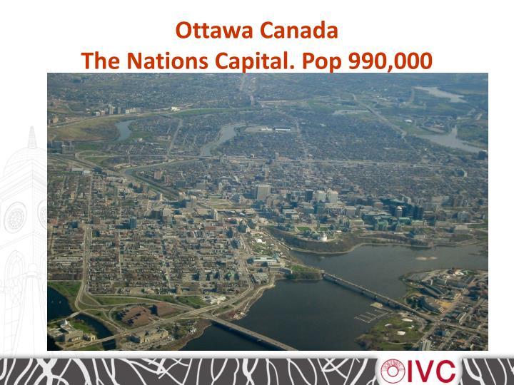Ottawa canada the nations capital pop 990 000