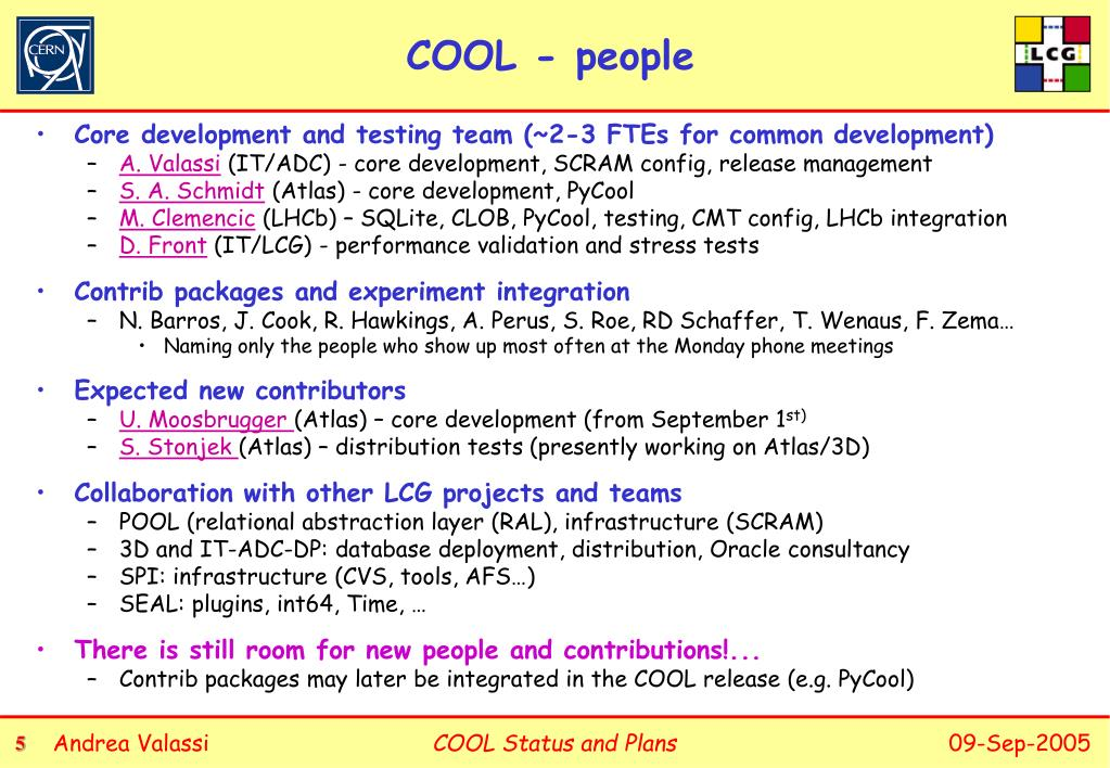 PPT - Conditions Database Project COOL Status and Plans