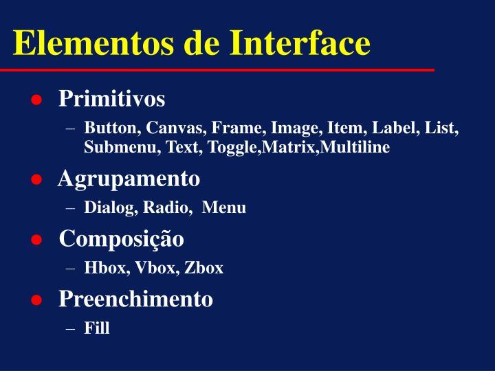 Elementos de Interface