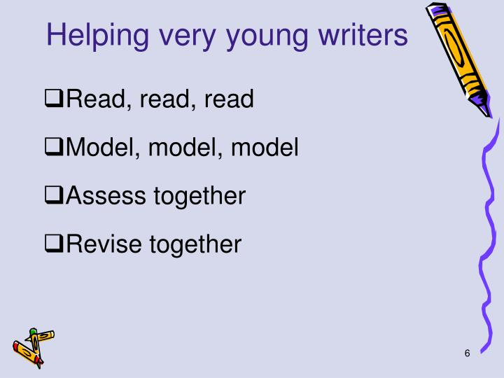 Helping very young writers