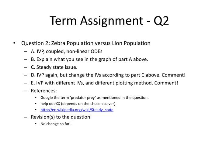 Term Assignment - Q2