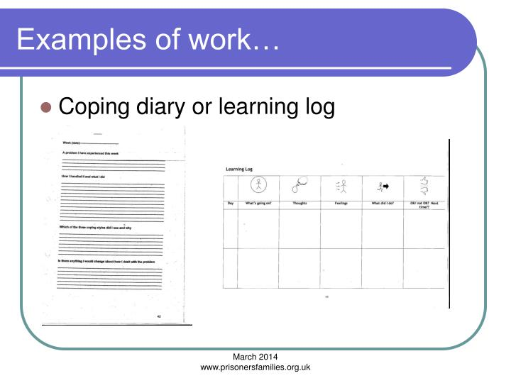 Examples of work…