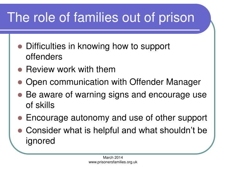 The role of families out of prison