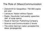 the role of mass communication