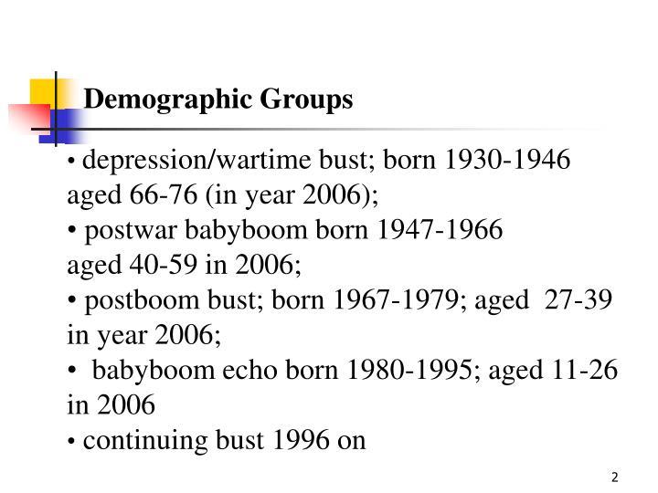 Demographic Groups