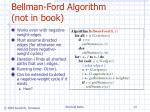 bellman ford algorithm not in book