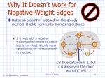 why it doesn t work for negative weight edges