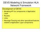 devs modeling simulation hla network framework
