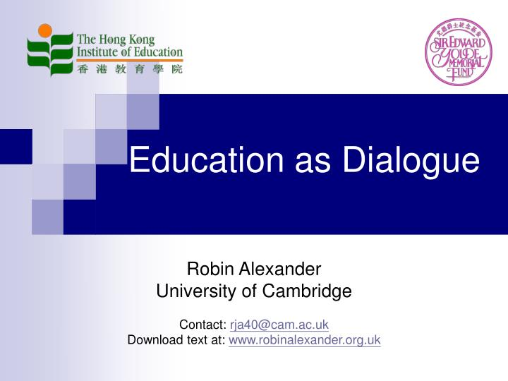 education as dialogue n.