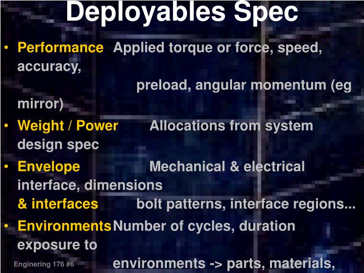 Deployables Spec