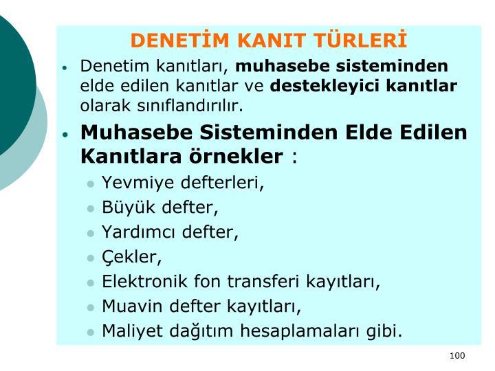 DENETİM KANIT TÜRLERİ