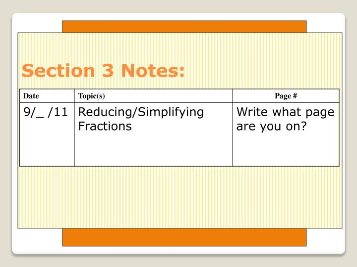 Section 3 notes