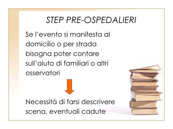 STEP PRE-OSPEDALIERI