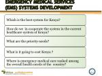 emergency medical services ems systems development