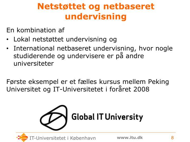 Netstøttet og netbaseret undervisning