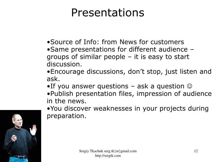 Presentations