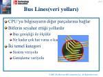 bus lines veri yollar