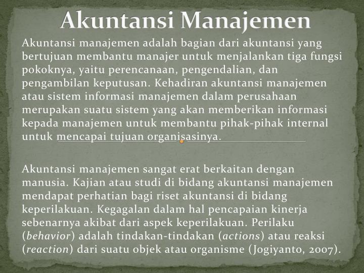 Akuntansi Manajemen