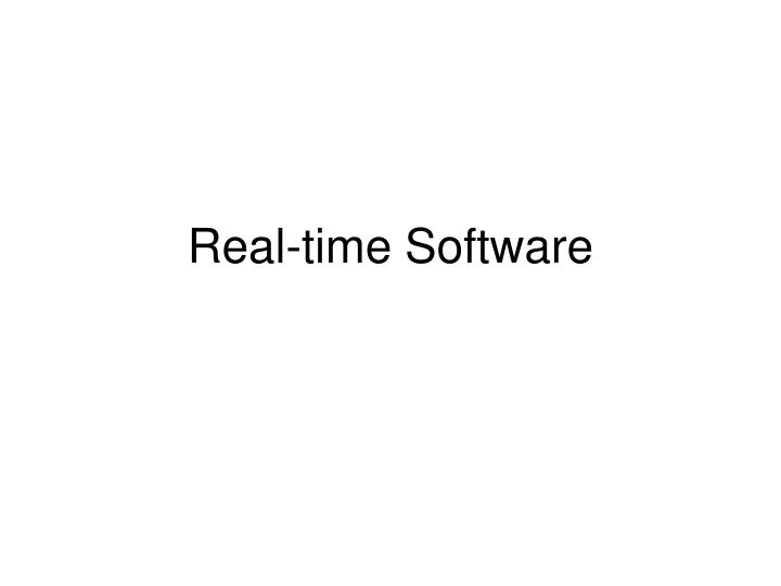 real time software n.