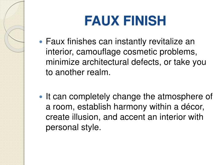 FAUX FINISH