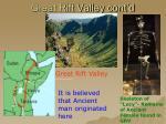 great rift valley cont d