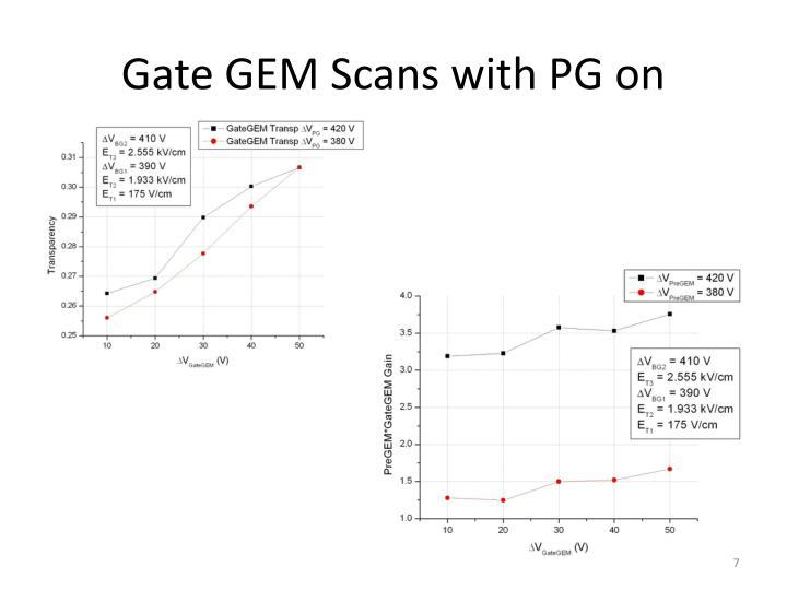 Gate GEM Scans with PG on