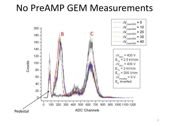 No preamp gem measurements