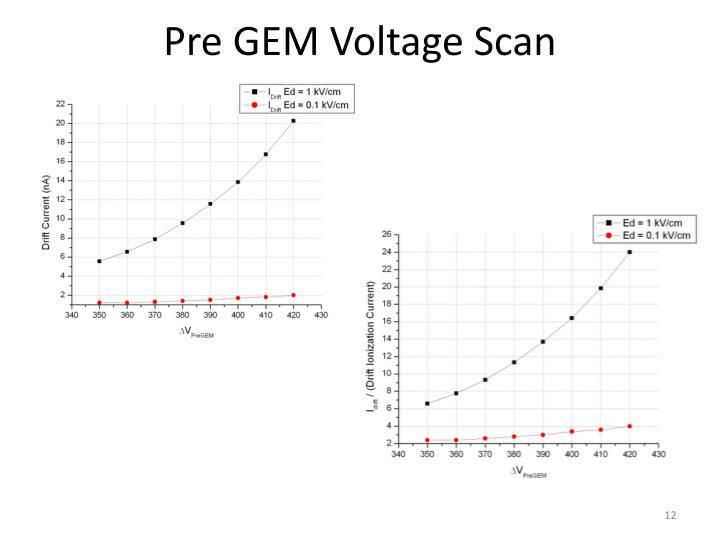 Pre GEM Voltage Scan