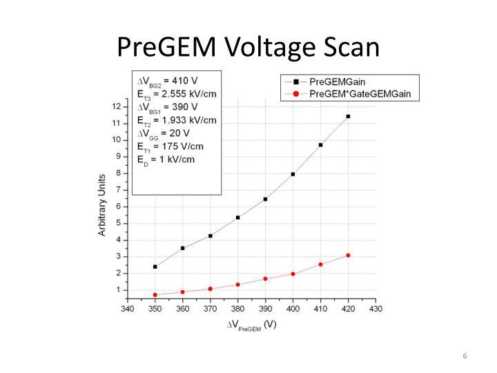 PreGEM Voltage Scan