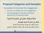 proposal categories and examples4