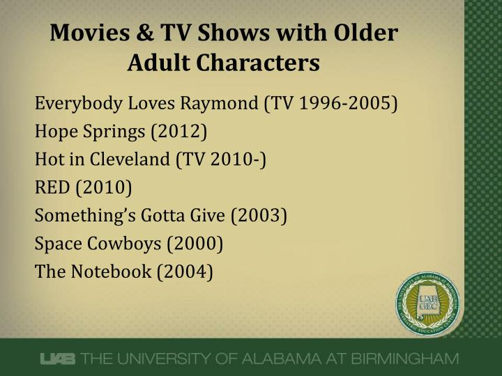 Movies & TV Shows with Older Adult Characters